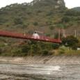 あゆのつり橋と矢祭山